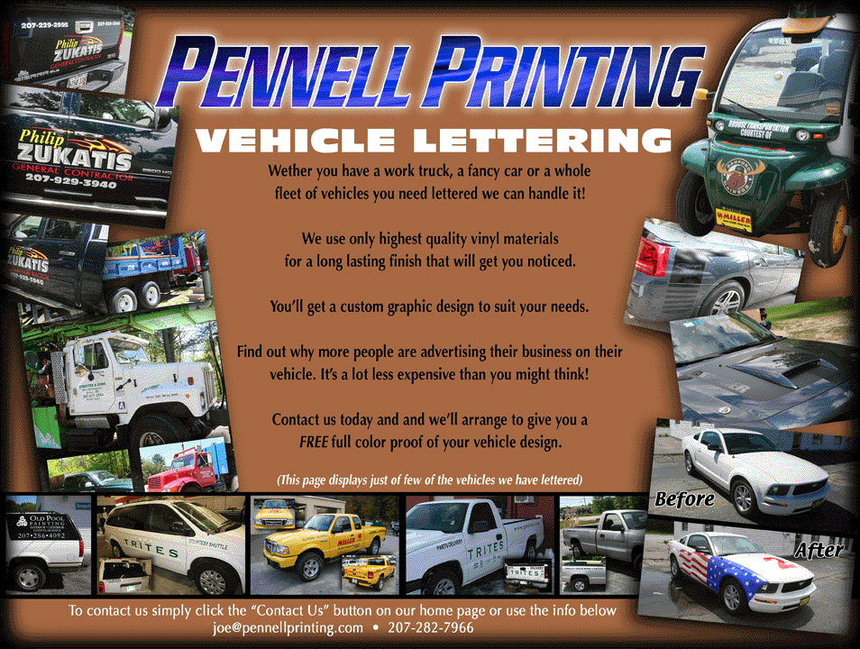 Vehicle Lettering Page